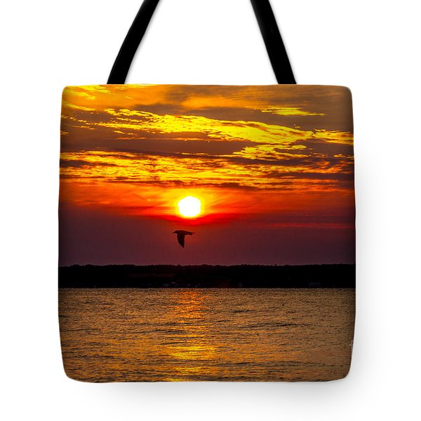 Tote Bag featuring the photograph Redeye Flight by William Norton