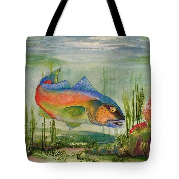 Rainbow Fish Tote Bag