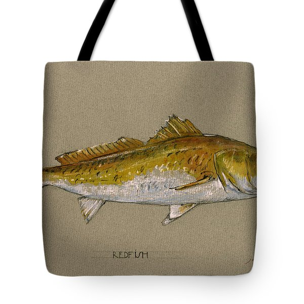 Redfish Painting  Tote Bag