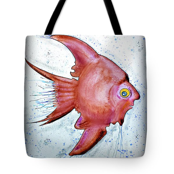 Tote Bag featuring the mixed media Redfish by Walt Foegelle