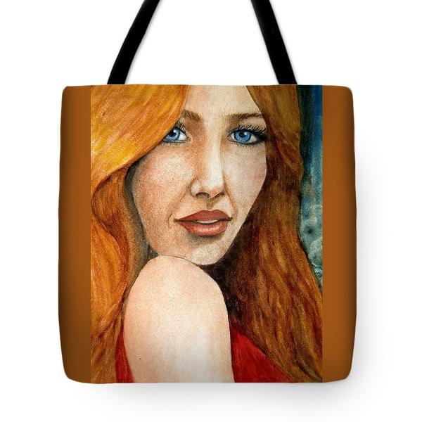 Redhead In October Tote Bag