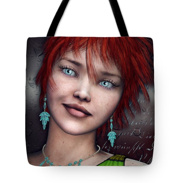 Redhead Tote Bag by Jutta Maria Pusl