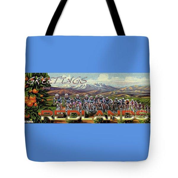 Redlands Greetings Tote Bag