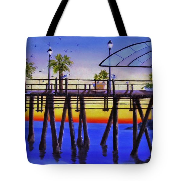 Redondo Beach Pier Tote Bag