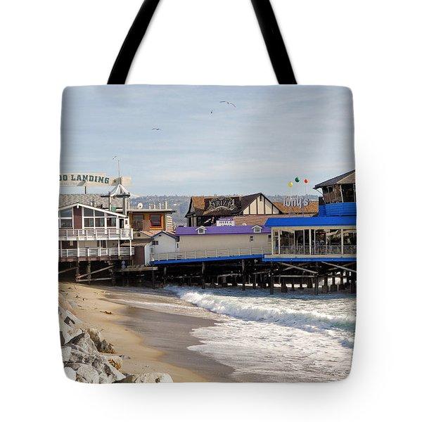Redondo Beach Pier Shopping Tote Bag
