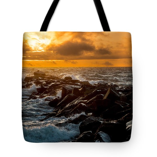 Redondo Beach Sunset Tote Bag by Ed Clark
