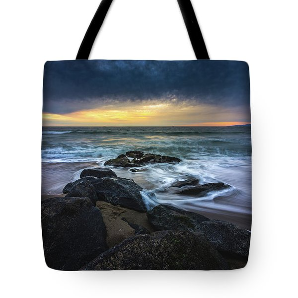 Tote Bag featuring the photograph Redondo Beach Sunset by Andy Konieczny
