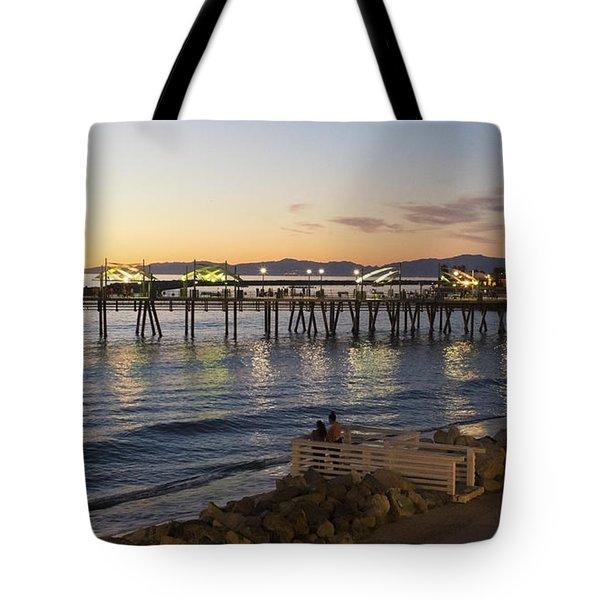 Redondo Pier At Sunset Tote Bag