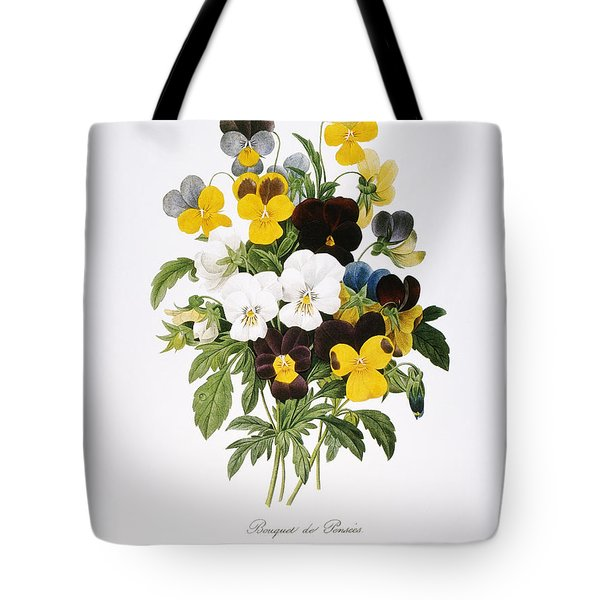 Redoute: Pansy, 1833 Tote Bag by Granger