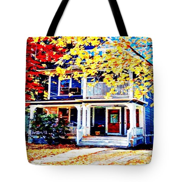 Reds And Yellows Tote Bag by MaryLee Parker