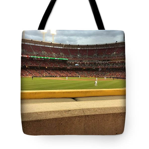 Reds Baseball Tote Bag