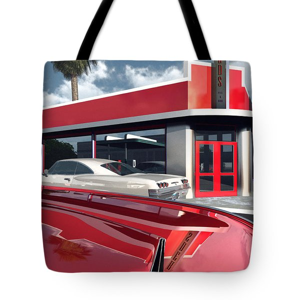 Reds Five And Dime Tote Bag by Richard Rizzo