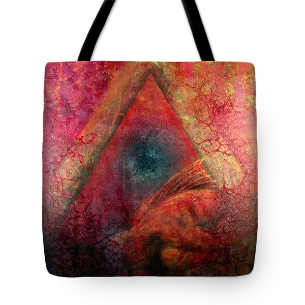 Tote Bag featuring the painting Redstargate by Ashley Kujan