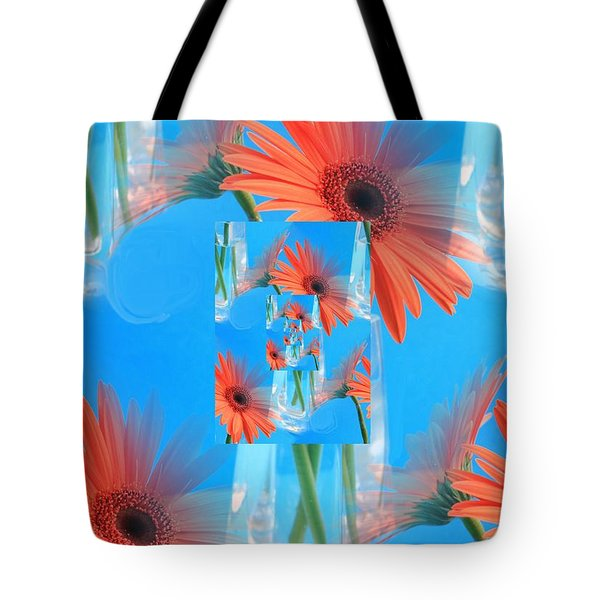 Redundant Gerbera Daisy Tote Bag