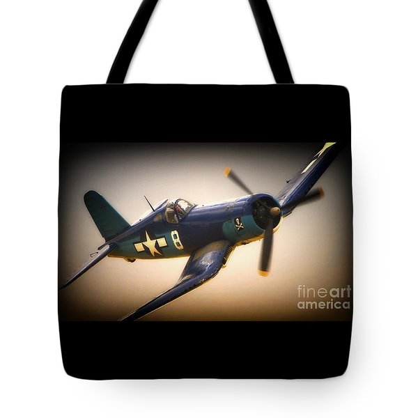 Redux For Clothing Vought F4u Corsair Jolly Roger No.8 Tote Bag