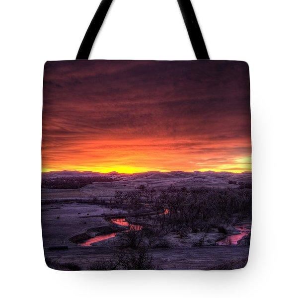 Redwater Tote Bag