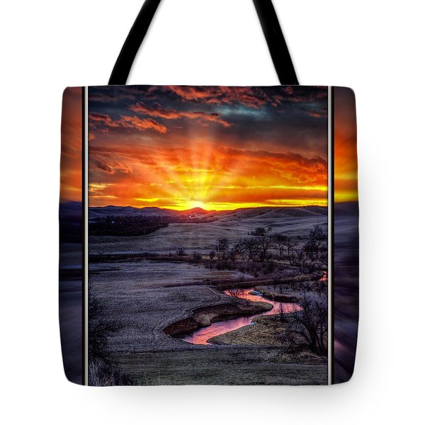 Redwater River Sunrise Tote Bag
