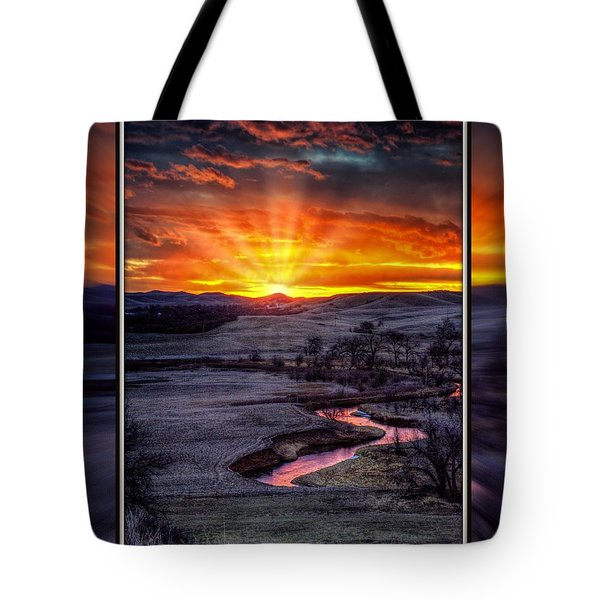 Redwater River Sunrise Tote Bag