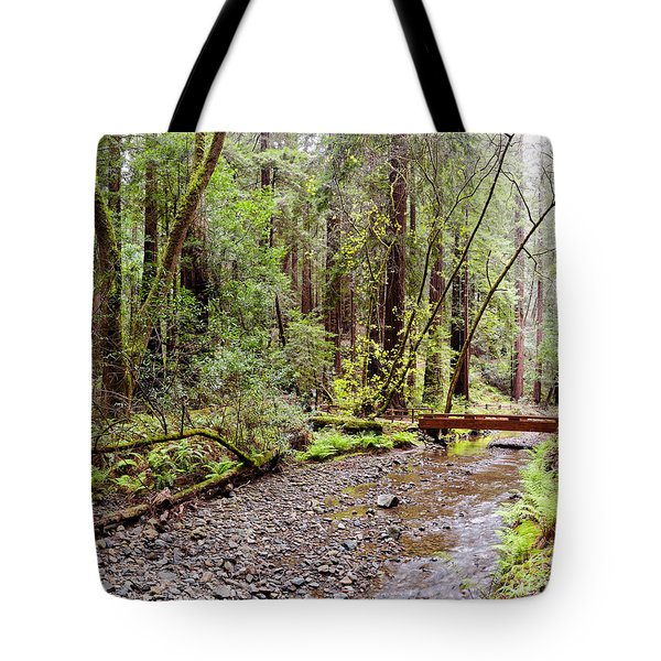 Redwood Creek Flowing Through Muir Woods National Monument - Mill Valley Marin County California Tote Bag