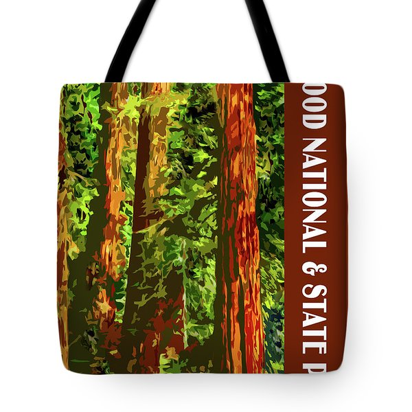 Redwood National Park Tote Bag by Chuck Mountain