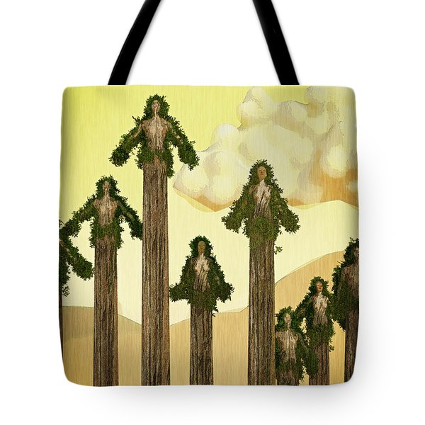 Redwood People Tote Bag by Matt Lindley