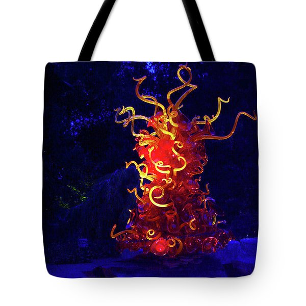 Redyellowbluenight Tote Bag