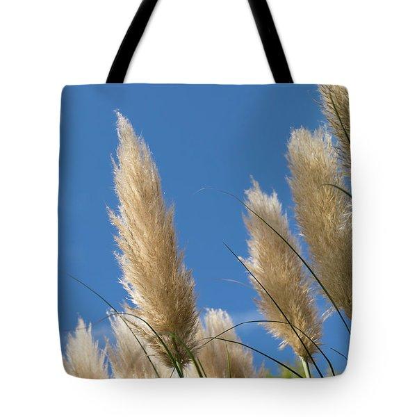 Reeds Against Sky Tote Bag