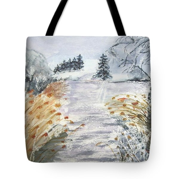 Reeds On The Riverbank No.2 Tote Bag