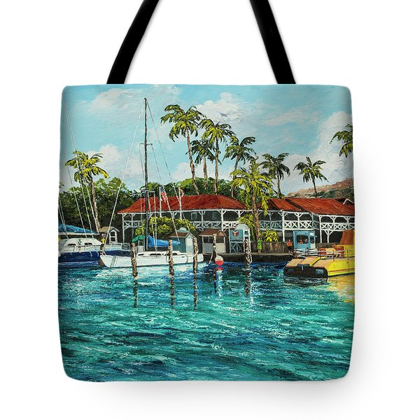Tote Bag featuring the painting Reef Dancer  by Darice Machel McGuire