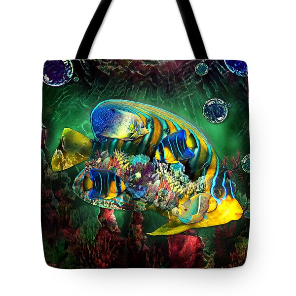 Reef Fish Fantasy Art Tote Bag