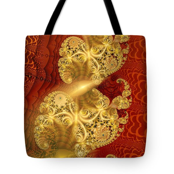 Tote Bag featuring the digital art Reef Life by Richard Ortolano