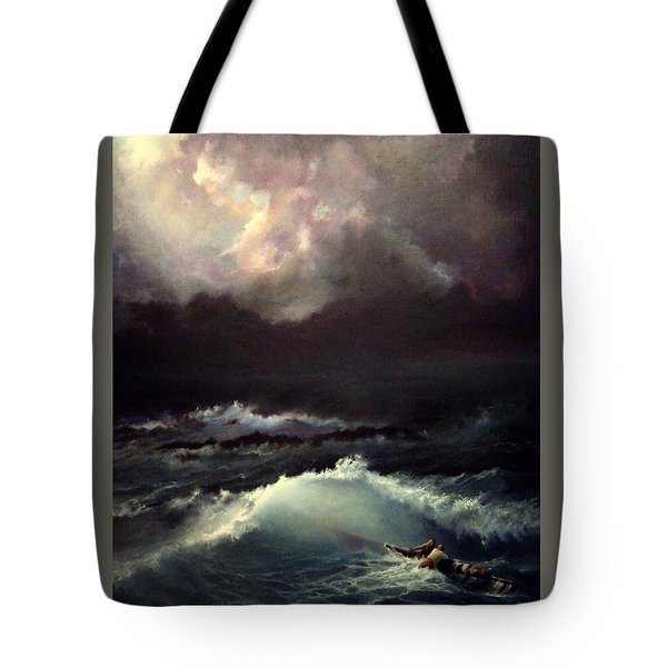 Tote Bag featuring the painting Reef by Mikhail Savchenko