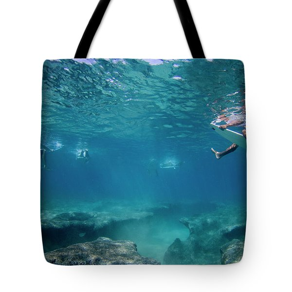 Reef Surfers Tote Bag by Sean Davey