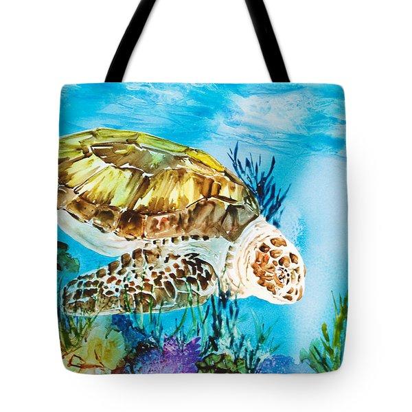 Reef Surfin Tote Bag by Tanya L Haynes - Printscapes