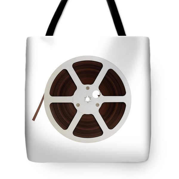Reel Of Audio Recording Tape Tote Bag by Jim Hughes