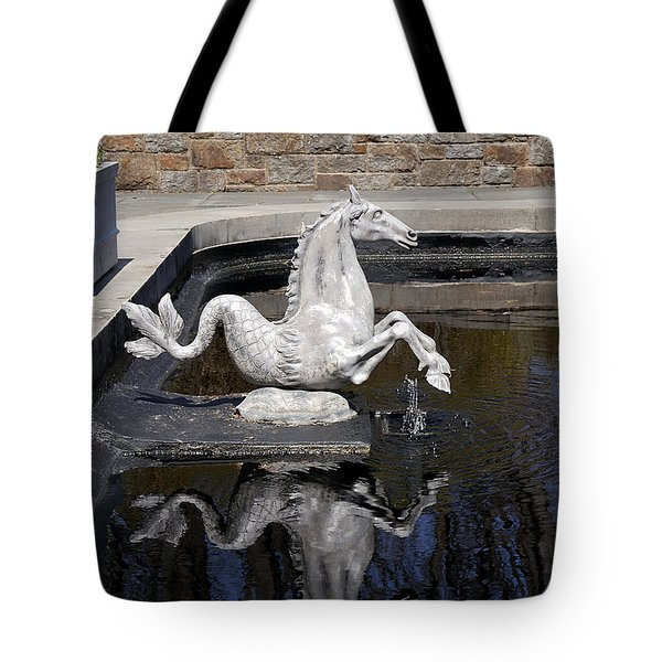 Reflections On A Sea Horse Tote Bag