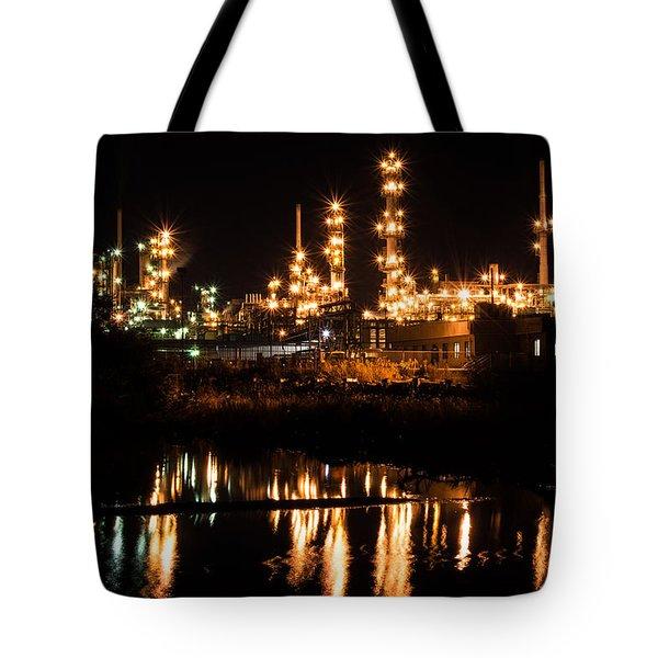Refinery At Night 1 Tote Bag