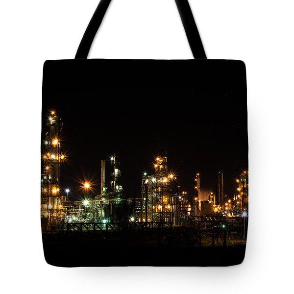 Refinery At Night 2 Tote Bag