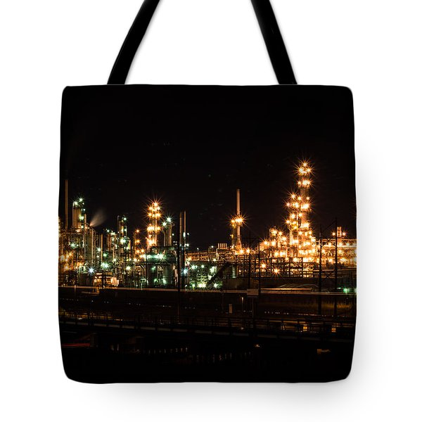 Refinery At Night 3 Tote Bag
