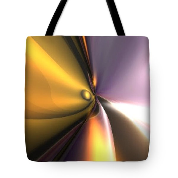 Tote Bag featuring the digital art Reflect by Darren Cannell