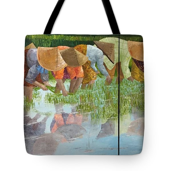 Tote Bag featuring the painting Reflect by Elizabeth Mundaden