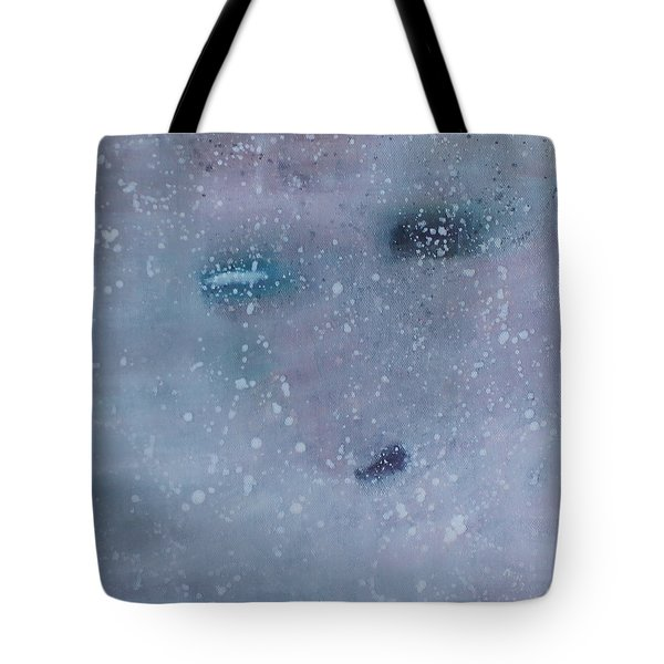 Tote Bag featuring the painting Self-examination by Min Zou