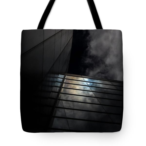 Tote Bag featuring the digital art Reflected Clouds by Kathleen Illes