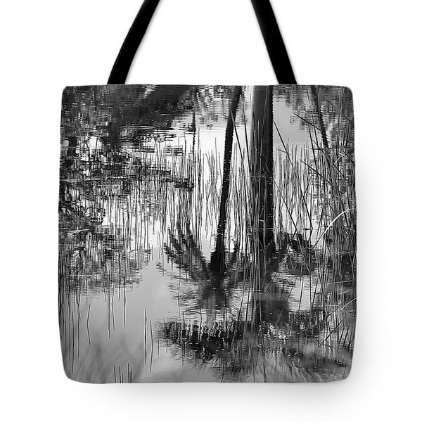 Reflected Palms Tote Bag