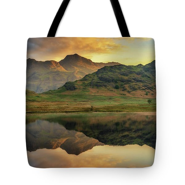 Tote Bag featuring the photograph Reflected Peaks by James Billings
