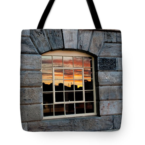 Reflected Sunset Sky Tote Bag by Helen Northcott