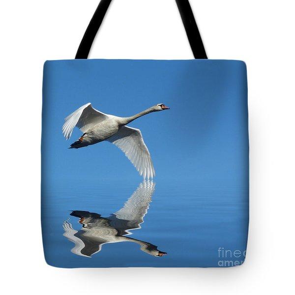 Reflected Swan Tote Bag