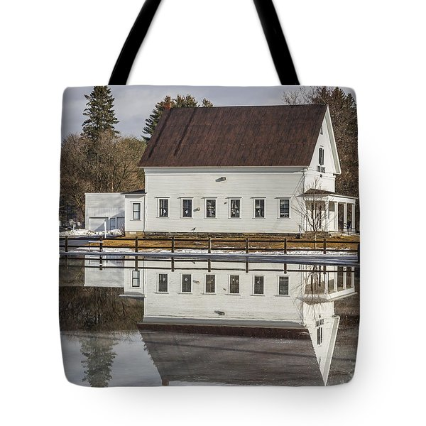 Reflected Town House Tote Bag by Tim Kirchoff