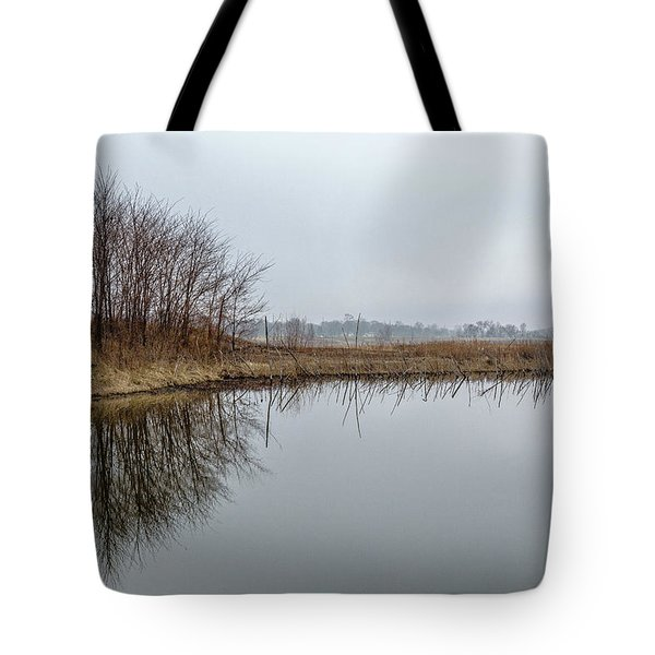 Reflected Trees Tote Bag