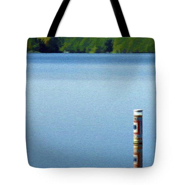 Reflected Warning Tote Bag by Jeffrey Kolker